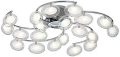 Ceiling light for my office?  It looks like a galaxy!  Possini Euro Pod Swirl Chrome Clear Frosted Ceiling Light
