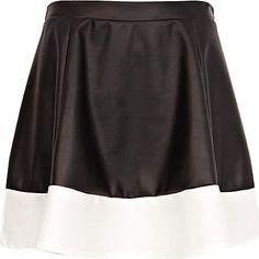 #River Island             #Skirt                    #Black #white #block #coated #skater #skirt         Black and white block coated skater skirt                                     http://www.seapai.com/product.aspx?PID=228104