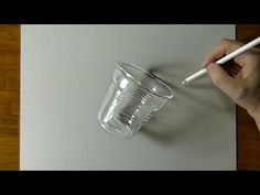 Glass or plastic? Coffee Cup - 3D Drawing - Marcello Barenghi