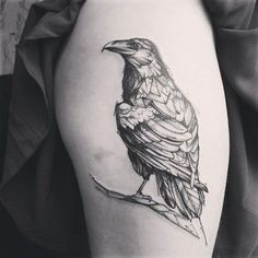 Raven Tattoo - 60+ Mysterious Raven Tattoos <3 <3