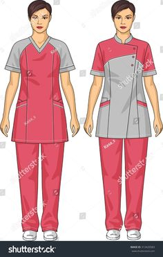 Spa Uniform, Suits For Women, Clothes For Women, Fashion Sketches, Scrubs, Work Wear, Royalty Free Stock Photos, Trousers, Female