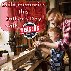 Father's Day is this Sunday! Yeagers has all the best tools and toys for Dad this year! From Traeger grills to DeWalt Power Tools...we have what you need to make Father's Day memorable!
