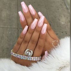 Best Baby Pink Nail Polish Colours For A Classic Look - Light pink nails , neutral nails , wedding nails - Hair and Beauty eye makeup Ideas To Try - Nail Art Design Ideas Pink Chrome Nails, Light Pink Nails, Glam Nails, My Nails, Long Nails, Pointy Nails, Diva Nails, Matte Nails, Colorful Nail Designs