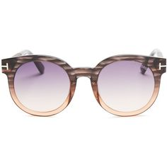 Tom Ford Janina Round Sunglasses, 53mm ($425) ❤ liked on Polyvore featuring jewelry, tom ford jewelry and tom ford