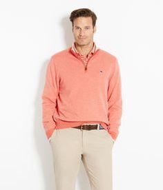 Shop Golf: Birdseye Golf 1/4-Zip Sweater for Men | Vineyard Vines