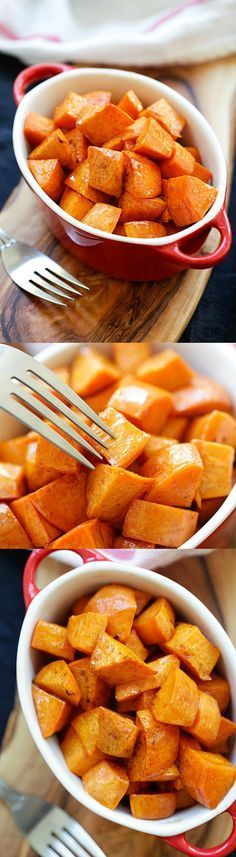Honey Cinnamon Roasted Sweet Potatoes – the best fall and Thanksgiving side dish that everyone can't stop eating. Easy peasy and fool-proof   rasamalaysia.com