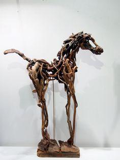 XL Driftwood Horse Sculpture Lady D Abstract by driftwoodartwork, $690.00