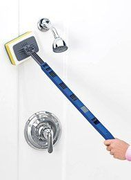 """Tub N Tile Scrubber - Additional Scrubber Sponges (2) by Carol Wright Gifts. $4.99. Tub N Tile Scrubber easily cleans bathtubs, floors and walls without bending, kneeling or reaching. Handy swivel head gets into corners where you can't. Handle extends 24""""-36"""". Durable plastic. 2 BONUS sponges 5""""L x 2""""W FREE!  Additional Sponges sold separately."""