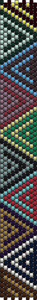 The Bead Guide: Bracelet Template: Triangular Geometry