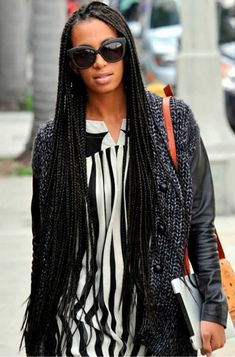 14 Times Solange Made Us Want Long Box Braids | Un-ruly