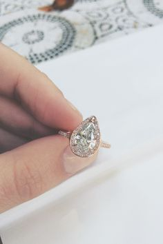 1.72 carat conflict free diamond in 18k rose gold + micro pave