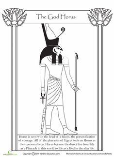 Worksheets: Egyptian God Horus