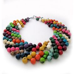 Striped Collar Necklace Mexican Statement