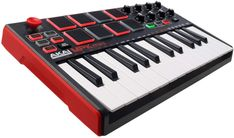 Akai Professional MPK MINI MKII 25-Key Ultra-Portable USB MIDI Keyboard and Pad Controller with Joystick The new MPK Mini is an ultra-compact keyboard controller designed for the laptop-toting traveling musician or as a potent addition to the arsenal of the desktop producer. The MKII packs 25 slender, velocity-sensitive keys, a…