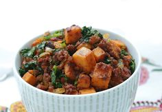 Chorizo Kale & Sweet Potato Hash