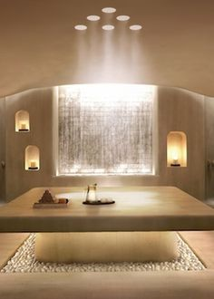 The Alpina Gstaad's Six Senses Spa will feature a hammam among its 12 treatment rooms. Image courtesy of Alpina Gstaad. Spa Design, Spa Interior Design, Luxury Interior, Contemporary Interior, Contemporary Style, Design Ideas, Home Spa Room, Spa Rooms, Home Spa Decor