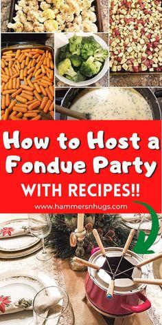 Dinner Party Menu, Dinner Parties, Bunco Party, Dinner Themes, Fondue Recipes, Fondue Ideas, Raclette Recipes, Fondue Recipe Melting Pot, Fondue Party