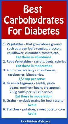 Best carbohydrates for diabetes