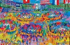 Chicago Mercantile Exchange, by Leroy NeimanT Chicago Mercantile Exchange, Leroy Neiman, Environmental Graphics, Presentation, Dinosaurs, Mint, Action, Painting, Group Action