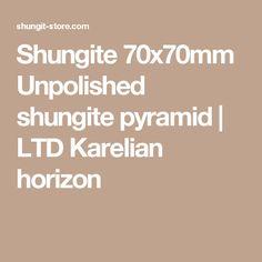 Shungite 70x70mm Unpolished shungite pyramid | LTD Karelian horizon
