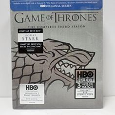 Game of Thrones The Complete Third Season House Stark Limited Edition Sigil Packaging (BLU RAY + DVD + Digital Copy) $79.99 http://gameofthronescentral.com/?product=game-of-thrones-the-complete-third-season-house-stark-limited-edition-sigil-packaging-blu-ray-dvd-digital-copy #bluray #stark #limitededition