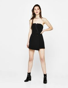 Tuxedo-style jumpsuit. Discover this and many more items in Bershka with new products every week