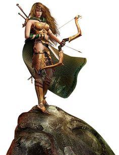 Les Amazones...L'étymologie populaire admise pendant l'Antiquité décompose le mot en un ἀ- / a-, « privatif », et μαζός / mazós, « sein » en ionien : « celles qui n'ont pas de sein ». La légende dit qu'elles avaient coutume de se couper le sein droit afin de pouvoir tirer à l'arc à flèche. On a proposé de faire provenir le terme du nom d'une tribu iranienne, *ha-mazan, « les guerriers», ou encore du persan ha mashyai, « les Peuplades [des steppes]
