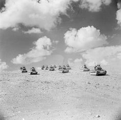 The battle of El Alamein was the first of the war to be fought in desert conditions. The level ground made it easy for tank warfare as they could travel long distances quickly. Afrika Corps, Tank Warfare, North African Campaign, Erwin Rommel, History Online, Ww2 Tanks, Military History, Matilda, World War Ii