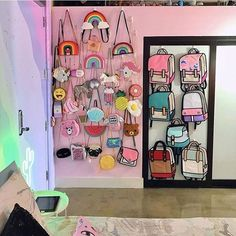 This Woman Has The Most Colorful Apartment You ve Ever Seen And Even Unicorns Are Jealous This Woman Has The Most Colorful Apartment You ve Ever Seen And Even Unicorns Are Jealous Tiniii tinipm room inspiration nbsp hellip My Room, Girl Room, Girls Bedroom, Bedroom Decor, Kawaii Bedroom, Colorful Apartment, Novelty Bags, Cute Room Decor, Aesthetic Rooms