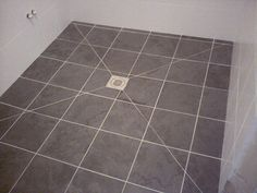 Take a look at this significant pic in order to take a look at the here and now strategies and information on DIY Bathroom Renovation Shower Floor, Tile Floor, Wet Floor, Bathroom Tile Installation, Transition Flooring, Floor Drains, Wet Rooms, Floor Design, Bathroom Inspiration