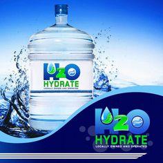 New Business Logo for H2O Hydrate by PinoyArchangeL