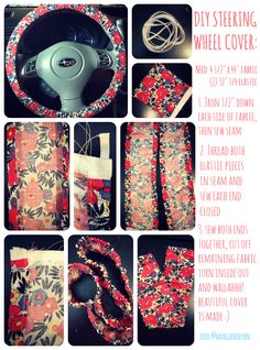Steering Wheel Cover tutorial I made! #sewing #diy #cover