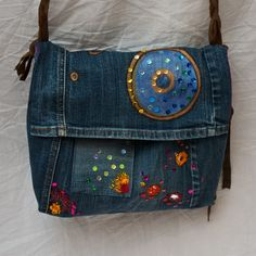 upcycled jeans bag