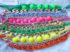 #summer2013trends #jewels #bijoux #fashionblogger #fashion #fashionstyle #neoncolors #fluo