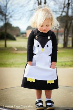 Penguin dress - would make a cute apron too ...