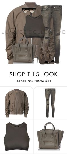 """Untitled #511"" by junkiescollective ❤ liked on Polyvore featuring R13, Topshop, CÉLINE, Giuseppe Zanotti, women's clothing, women, female, woman, misses and juniors"