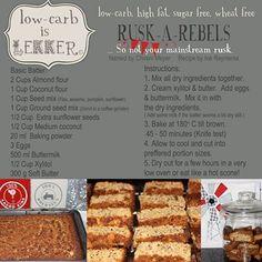 Banting Rusks Low-carb is lekker keto pescatarian recipes; Low Carb Bread, Low Carb Keto, Low Carb Desserts, Low Carb Recipes, Paleo Recipes, Radish Recipes, Recipes Dinner, Dessert Recipes, Kos