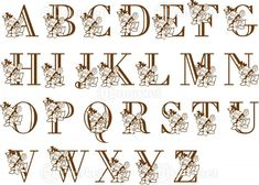アルファベット文字に薔薇のイラストをデザインした、装飾文字・装飾アルファベットです。WEBデザインのちょっとしたアクセントや刺繍の原案などに幅広く活用できるシンプルな素材です。