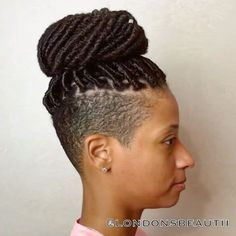 Goddess Faux Locs x Shaved Sides done by London's Beautii in Bowie, Maryland. www.styleseat.com/v/londonsbeautii
