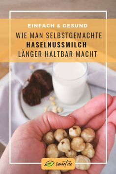Make hazelnut milk yourself quickly and cheaply + durability Veggie Smoothie Recipes, Smoothie Benefits, Vitamin C Benefits, Vitamins, Veggies, Milk, About Me Blog, Breakfast, Fitness Foods