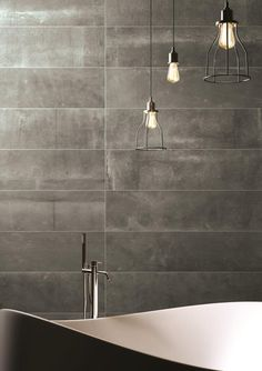 Choose our Hessian Nero Porcelain Tile for a cool, chic appeal. Use these large format dark grey porcelain tiles on floors or walls. Stone Cladding, Wall Cladding, Mandarin Stone, Natural Stone Flooring, Wall And Floor Tiles, Hessian, Stone Tiles, Bath Remodel, Natural Stones