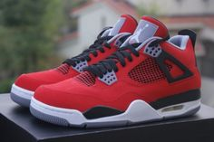 Air Jordan 4-dont usually like red but these are straight