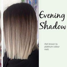 Evening Shadow - ash blonde to platinum ombré
