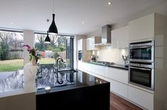 Renovating Your Kitchen – and Win an Interior Design Advice Session! Green Kitchen, New Kitchen, Kitchen Units, Awesome Kitchen, Kitchen Cabinets, Open Plan Kitchen Diner, Luxury Kitchen Design, Kitchen Designs, Kitchen Ideas