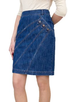New Ladies Casual Boutique Knee Length Pencil Blue Denim Skirt UK 8 10 12 14 16 18 20 22 Jeans Dress, Denim Skirt, Women's Straight Jeans, Designer Jeans For Women, Boutique Fashion, Mode Jeans, Denim Outfit, Skirt Outfits, Sewing Projects