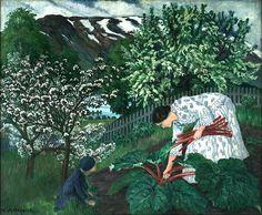 Rabarbra by Nikolai Astrup Green Landscape, Landscape Art, Landscape Paintings, Traditional Landscape, Art For Art Sake, Old Master, Contemporary Paintings, Garden Art, Canvas Art Prints