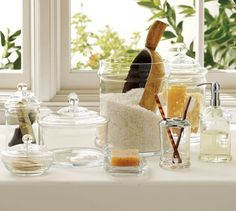 PB Classic Glass Bath Accessories | Pottery Barn