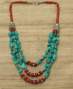 Beautiful and sophisticated jewelry has traditionally been an important part of Tibetan daily life. It reflects the traditions of Buddhism and Hinduism with regards to using jewelry as a metaphor for ideals or faith. Tibetan jewelry is often large, elabo