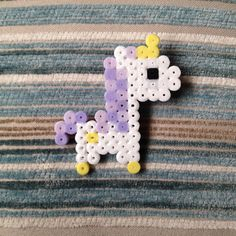 Cute Unicorn Hama / Perler Bead Badge by SleepingLionCrafts