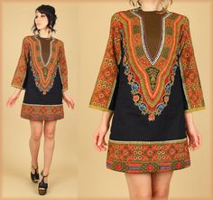 Your place to buy and sell all things handmade African Clothes, Ethnic Print, Dashiki, Bell Sleeves, Cover Up, Boho, My Style, Mini, Cotton